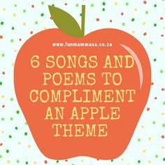 If you are teaching an Apple theme, here are a collection of 6 cute apple songs and rhymes to compliment your preschool theme. ( Original authors of these songs unknown. If you are the author, please contact me so I can credit you ) Apple Song, Rhyming Preschool, Songs For Toddlers, Apple Theme, Pre School, Authors, Compliments, Poems, Teaching