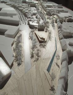 Since 1998 the Web Atlas of Contemporary Architecture Landscape Architecture Model, Landscape Model, Space Architecture, Architecture Drawings, Landscape Design, 3d Models, Scale Models, Model Hobbies, Arch Model