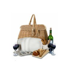 Bambeco Eco Picnic Basket Giveaway - Woman's Day, Enter for a chance to win a natural willow picnic basket with service for four from Bambeco! #sweepstakes #bambeco