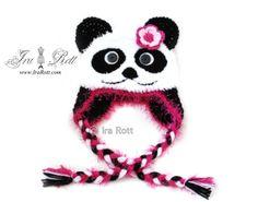 MUST do this for my little sister! She is the ultimate Panda lover!!!  Handmade Crochet Panda Hat For Kids  www.irarott.com