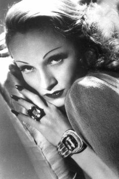 DID YOU KNOW: Marlene Dietrich was not only a famous actress from the 1930's, but she was also a famous connoisseur of fine jewelry and often wore her own pieces during filming.