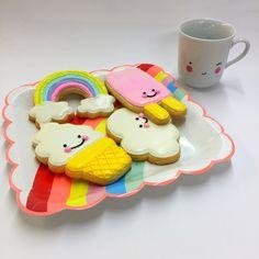 Pastel Girls Room, Icecream, Food Art, Kids Meals, Nom Nom, Cloud, Cupcake, Kawaii, Cookies