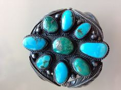 Vintage American Indian Sterling and Turquoise by MAGICALUNIVERSE, $495.00 Here is another favorite.