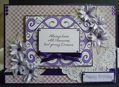 Creative Expression stamp abd dreamees delights flowers
