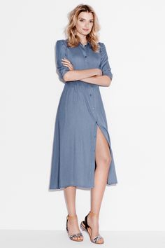 Boho dress in denim. HM. #PARTYINHM