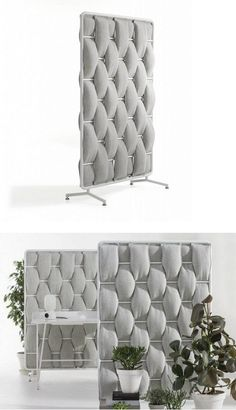 Sound absorbing desk partition LOOP by Abstracta | #design Anya Sebton