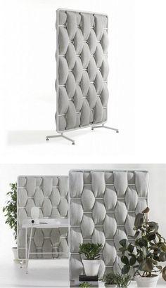 Sound absorbing desk partition LOOP by Abstracta   #design Anya Sebton