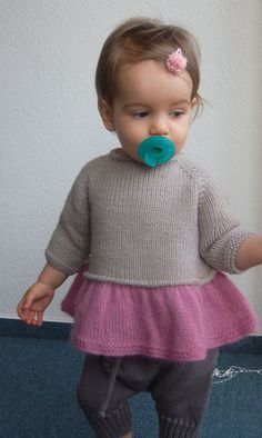 Tutu Top by Frogginette Knitting Patterns Knitting For Kids, Baby Knitting Patterns, Knitting Designs, Knitting Projects, Clinic Design, Cute Baby Clothes, Girls Sweaters, Baby Girl Fashion, Diy For Kids