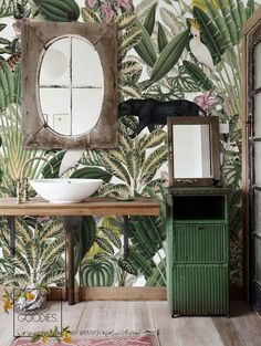 Jungle Wallpaper Wild Animals Wallmural Wall Mural Remove   Etsy