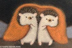 2 little hedgies! Hedgehog Drawing, Hedgehog Craft, Hedgehog Pet, Cute Hedgehog, Woodland Creatures, Cute Creatures, Woodland Animals, Hedgehog Illustration, Baby Animals