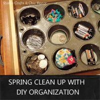 Spring clean up: diy organization