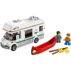 LEGO City Great Vehicles - Camper Van and thousands more of the very best toys at Fat Brain Toys. Build an impressive camper, then pack up the bags. Wind your way to the outskirts of Lego City. Lego Camper Van, Van Lego, Toys R Us, New Toys, Lego Shop, Boutique Lego, Rv Gifts, Lego Kits, Lego City Police