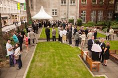Drinks reception in St James Garden. Summer outdoor Venue Hire through 195 Piccadilly, London