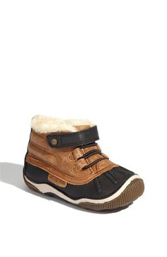 Stride Rite 'Gulliver' Boot (Baby, Walker & Toddler) at Nordstrom.com. Faux fur lines a charming duck boot with a durable toe bumper to protect little feet.