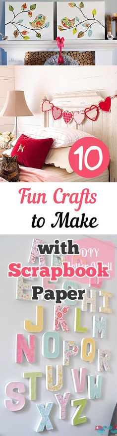Use these ideas to create some awesome crafts with all that old scrapbook paper you have laying around!