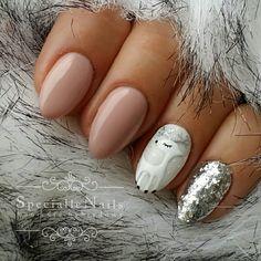 """Polubienia: 108, komentarze: 5 – @specialle_nails na Instagramie: """"206 I 032 @claresanails #manicure #manicurehybrydowy #hybrydy #hybryda #nails #nailart #winternails…"""""""