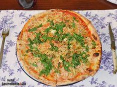Pizza de queso de cabra foie gras y miel