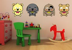 sostick — Les chiots #Sostick #Stickers #Muraux #Repositionables #Decoration #baby