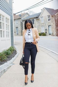 Classy Outfits For Women, Casual Work Outfits, Business Casual Outfits, Professional Outfits, Chic Outfits, Fashion Outfits, Clothes For Women, Looks Jeans, Look Formal