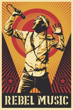 """The official poster/artwork for the second season of the """"Rebel Music"""" series was done by Shepard Fairey. (Courtesy of MTV World) Native American Music, Native American Artists, Shepard Fairey Obey, New Poster, Native Art, Indian Art, Mtv, Rock And Roll, Rebel"""