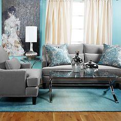 New living room sofa gray ideas Living Room Turquoise, Teal Living Rooms, Living Room Grey, Living Room Sofa, Home Living Room, Apartment Living, Living Room Furniture, Living Room Designs, Living Room Decor