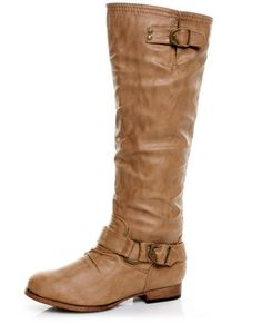 Think I want some flat brown knee-high boots, but these might be a little too tough for me.
