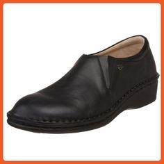 Finn Comfort Women's Newport Black Nappa 42 European - Loafers and slip ons for women (*Amazon Partner-Link)