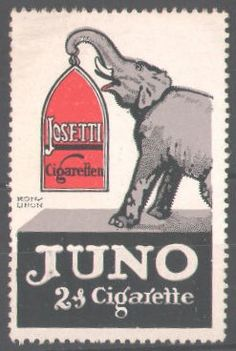 Elephant stams & labels | Cigarette stamp