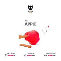 Zee.Dog Toys | Super Fruitz | The Apple