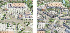 Sprawl repair example via architect and urban designer