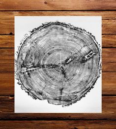 Capturing an old soul, this art print features a cross section of a fallen tree found in Sundance Canyon. The print shows off the cracks, splits and rings of the original tree, like looking down onto its stump. As each one is individually printed by combining wood block and paper and may vary a bit due to the handmade process.