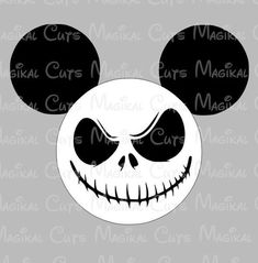 This listing is a digital download of Jack Skellington Mickey Mouse Ears to be used for a variety of items such as decals, scrapbook decorations, vacation shirt