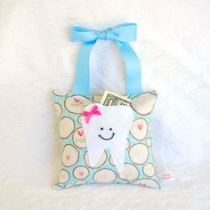 Tooth Fairy Tooth Pillow for Girls