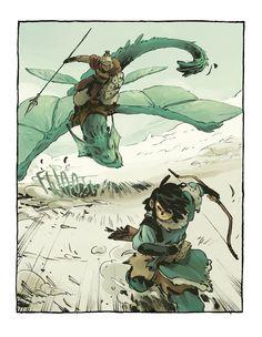 Ari, Cazador de dragones, el cómic en el que he... - Xulia Vicente