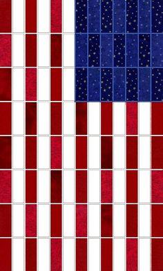 American Flag Prefringed Rag Quilt Kit
