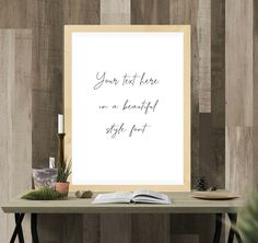 check it out Modern Fonts, Text You, Quote Prints, Check It Out, Printable Wall Art, Quotes, Etsy, Contemporary Indoor Fountains, Quotations