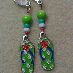 Flip flop earrings. Made in U.S.A. winnieandbelle