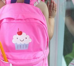 Cupcake backpack by Damask Love. Make It Now with the Cricut Explore machine in Cricut Design Space.