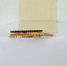 Black diamond stack rings