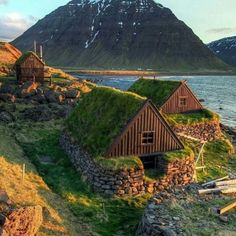Iceland or similar?  good use of landscape and what is there to make a cozy dwelling.