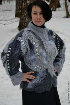 Irish lace, crochet, crochet patterns, clothing and decorations for the house, crocheted. Crochet Coat, Crochet Jacket, Cotton Crochet, Crochet Scarves, Crochet Clothes, Russian Crochet, Irish Crochet, Crochet World, Freeform Crochet