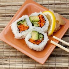 "The Best & Worst Sushi for Weight Loss. Tip  - Opt for Veggies. ""Many sushi restaurants include vegetarian choices on the menu with ingredients like fresh cucumbers, avocados, and sea vegetables..."" from"