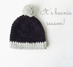 Little Things Blogged: Crochet Big Pom Beanie FREE Pattern