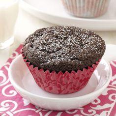 Gluten-Free Chocolate Cupcakes Recipe from Taste of Home -- shared by Desiree Glanzer of Carpenter, South Dakota