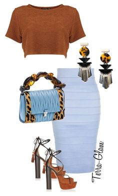 """Passion For Prints"" by terra-glam ❤ liked on Polyvore featuring New Look, Miu Miu, MANGO and Aquazzura"