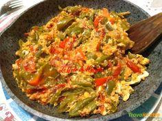 Peperoni friggitelli con uova strapazzate  #ricette #food #recipes