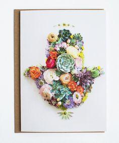 Hamsa hand flower art by Vicki Rawlins of Sister Golden! Flower Prints, Flower Art, Hand Flowers, Cactus Y Suculentas, Paperclay, Arte Floral, Hamsa Hand, Echeveria, Cacti And Succulents