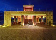 Maldives Resort Pictures | Anantara Kihavah Maldives Photos - Sky bar at night