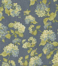 Home Decor Print Fabric-Waverly Rolling Meadow Chambray, , hi-res Elegant Home Decor, Elegant Homes, Home Decor Fabric, Paper Design, Printing On Fabric, Upholstery, Chambray, House Design, Diy Crafts