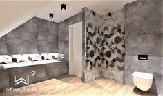 Projekt łazienki z mozaiką heksagonalną w domku jednorodzinnym Bathtub, Bathroom, Standing Bath, Washroom, Bathtubs, Bath Tube, Full Bath, Bath, Bathrooms